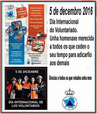 Dia 5 de decembro: Día Internacional do Voluntario
